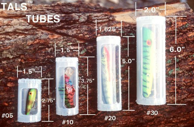Tals fishing versatile tackle tubes and tackle packs the for Tube fishing lure